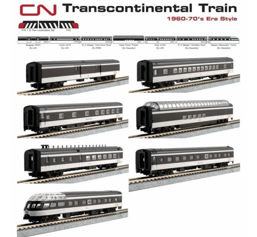 Kato : N CN Transcontinental Set (7 pcs)