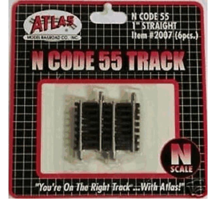 """Atlas : N Code 55 1"""" Straight (6pk)"""