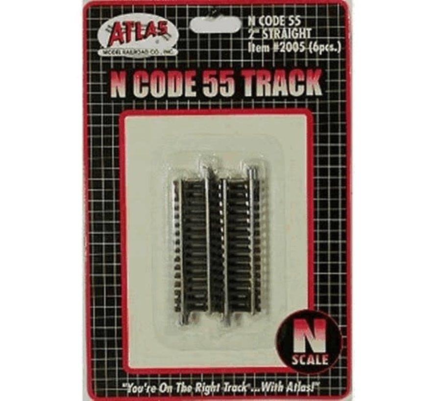 """Atlas : N Code 55 2"""" Straight (6pk)"""