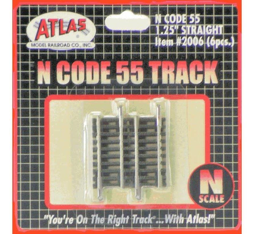 """Atlas : N Code 55 1.25"""" Straight (6pk)"""