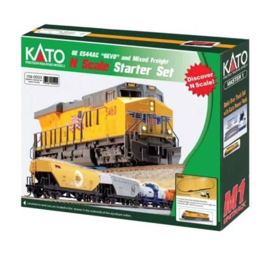 Kato : N UP ES44AC Freight Starter Set