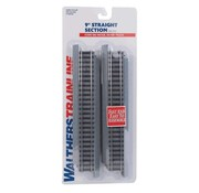 """WALTHERS WALT-931-1351 - Walthers : HO 9"""" Straight Section - Power-Loc Track"""