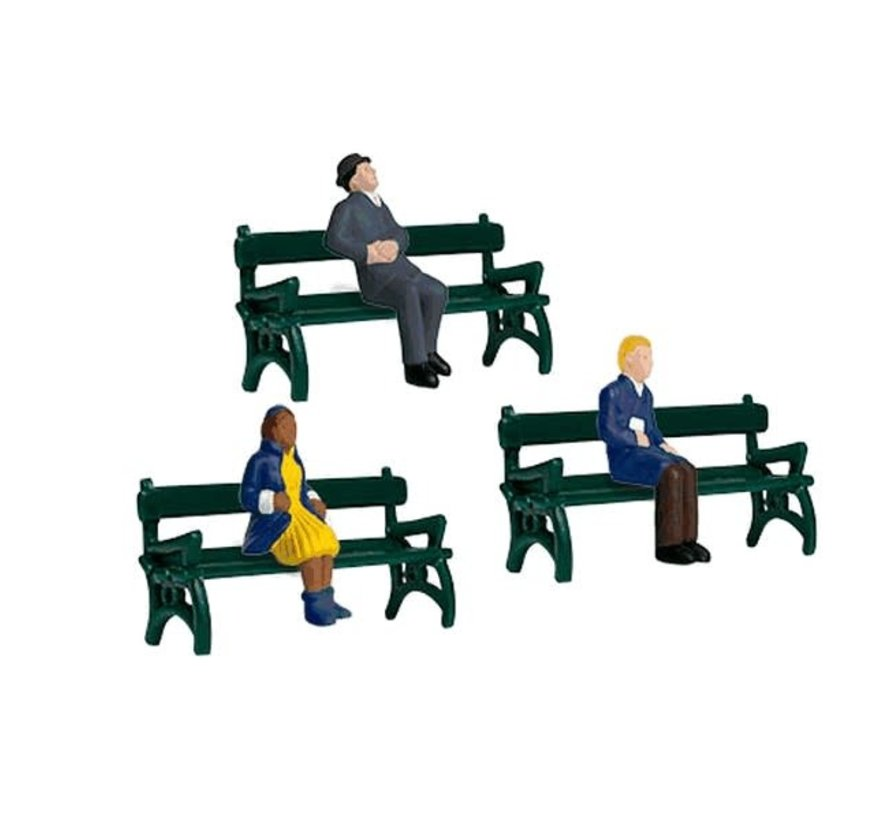 Lionel : O Sitting People w/Benches (6pk)