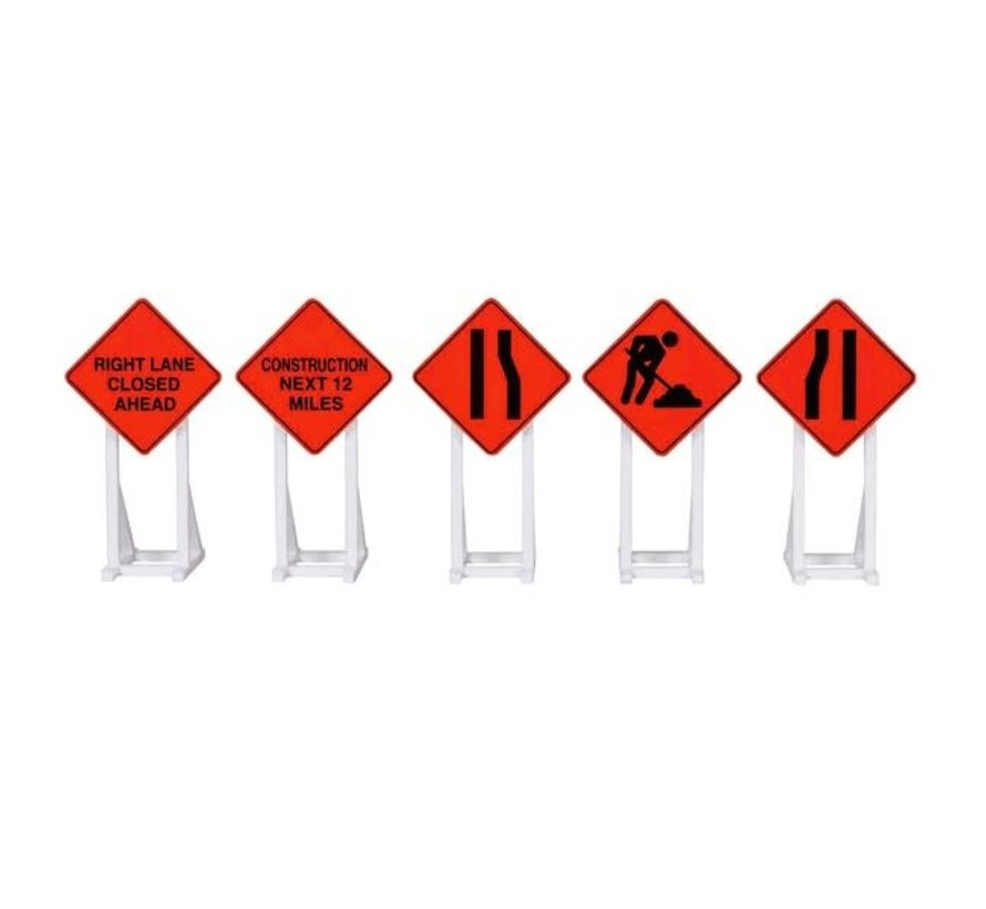 Lionel : O Construction Signs (5pc)