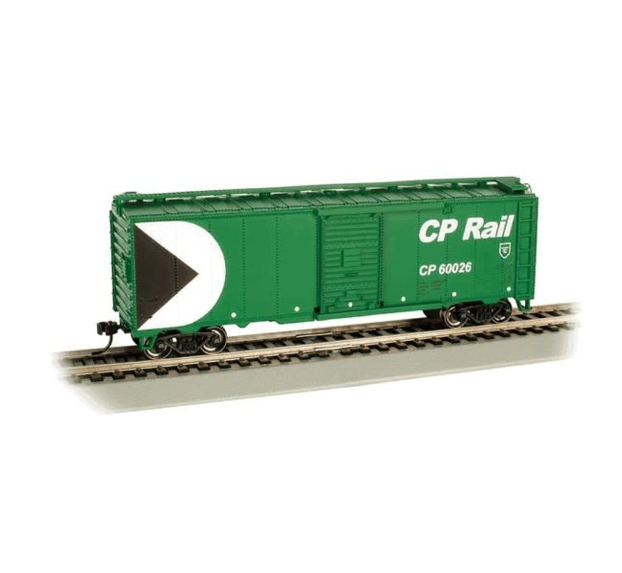 Bachmann : HO 40' PS-1 Boxcar CP Rail #60026/grn