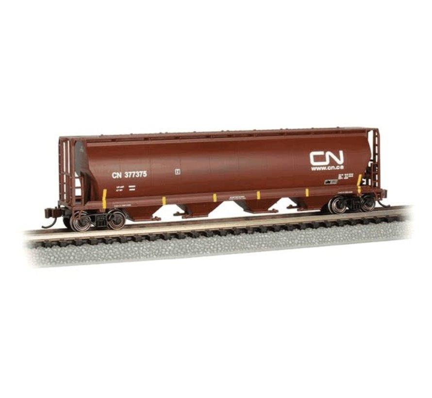 Bachmann : N 4-Bay Cyl.Hopper CN #377375/oxide red