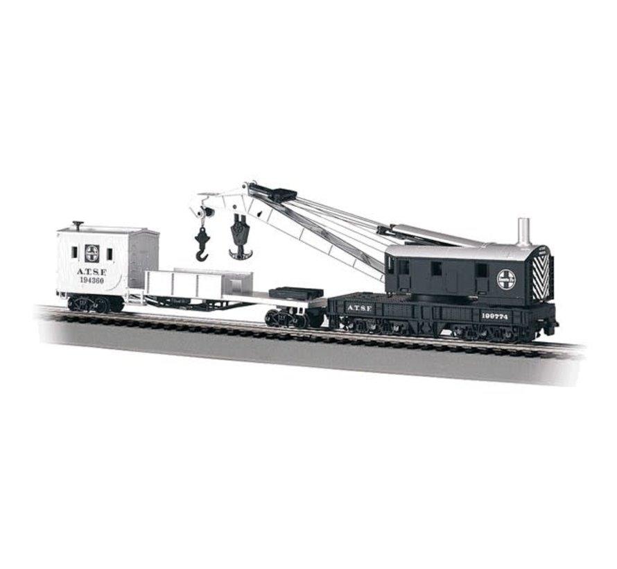 Bachmann : HO Crane Car w/Boom Tnd ATSF