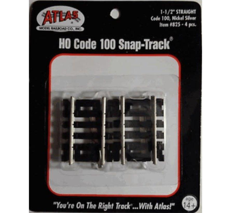 "Atlas : HO 1.5""Straight (4 pcs)"
