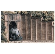 WOODLAND WDS-1260 - Woodland : HO RETAIN WALL TIMBER 3EA