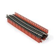 KATO KAT-20465 - Kato : N Curved Deck Girder Bridge (Red)
