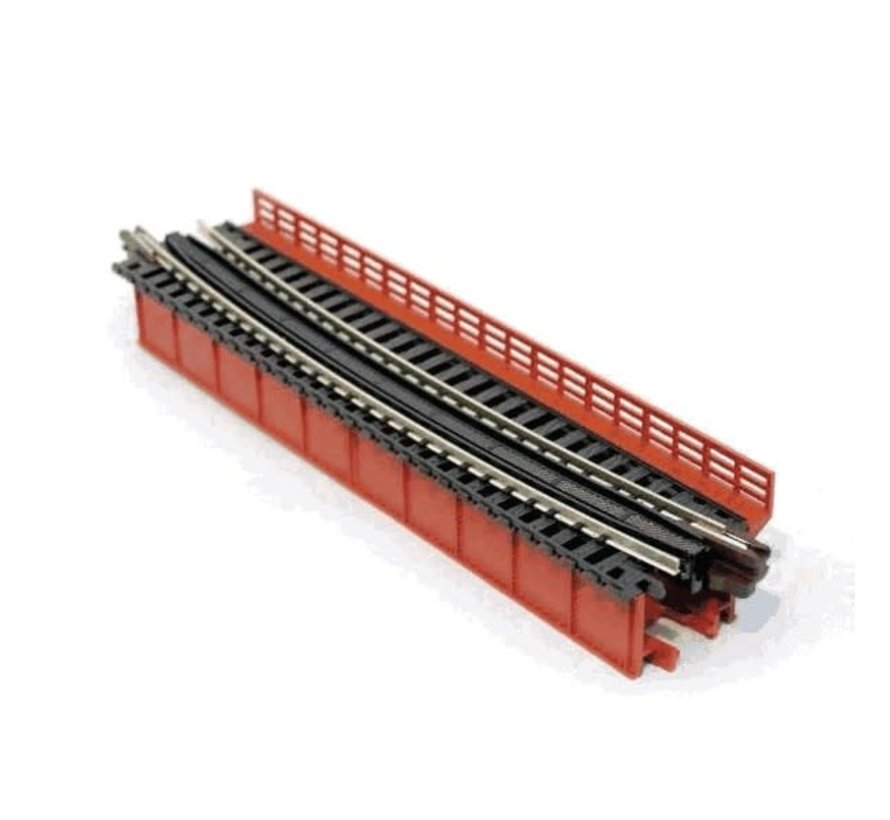 Kato : N Curved Deck Girder Bridge (Red)