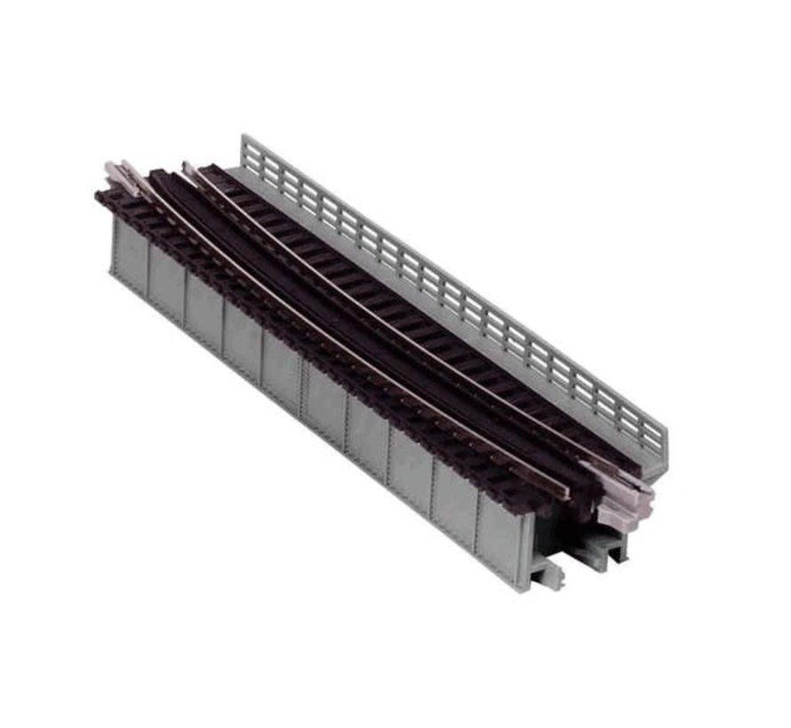 Kato : N Curved Deck Girder Bridge (Gray)