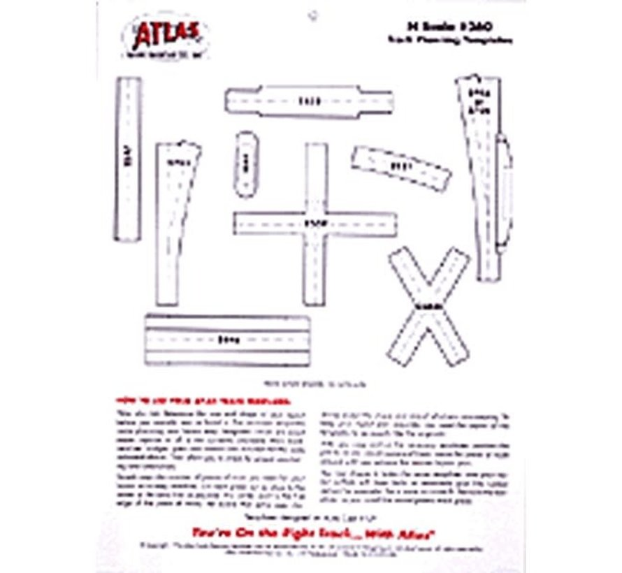 Atlas : N SCALE TRACK PLANNING TEMPLATES