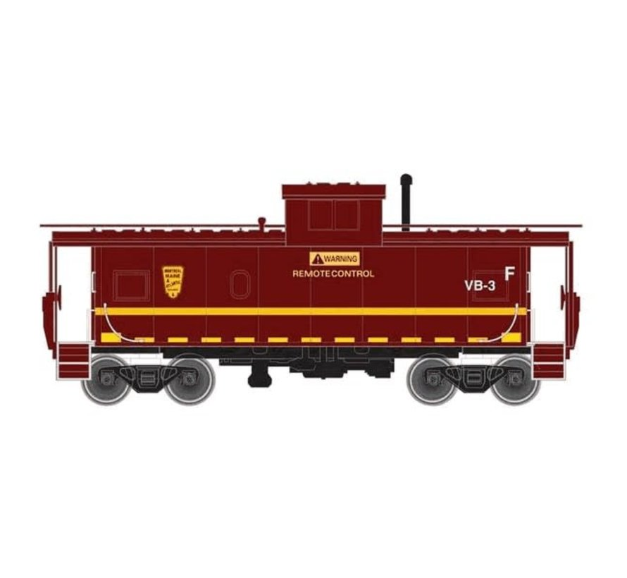 Atlas : N EXT.VISION&STANDARD CABOOSE-MONTREAL,MAINE&ATL- VB-4(MAR-YELL)