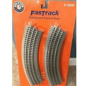 LIONEL LNL-6-12033 - Lionel : O FasTrack courbes (pack-4)