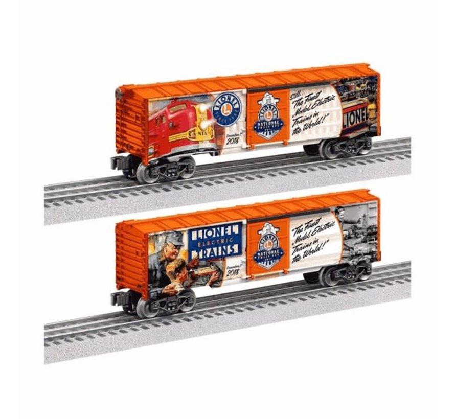 "Lionel : O Boxcar ""2018 National Lionel Train Day"" 1-car"