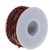 WALTHERS WALT-2200100250 - Walthers : wire 2 conductor 20g 25' black/red