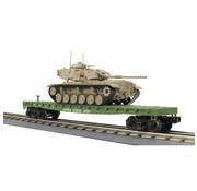 MTH MTH : O Flat Car w/M60 Tank