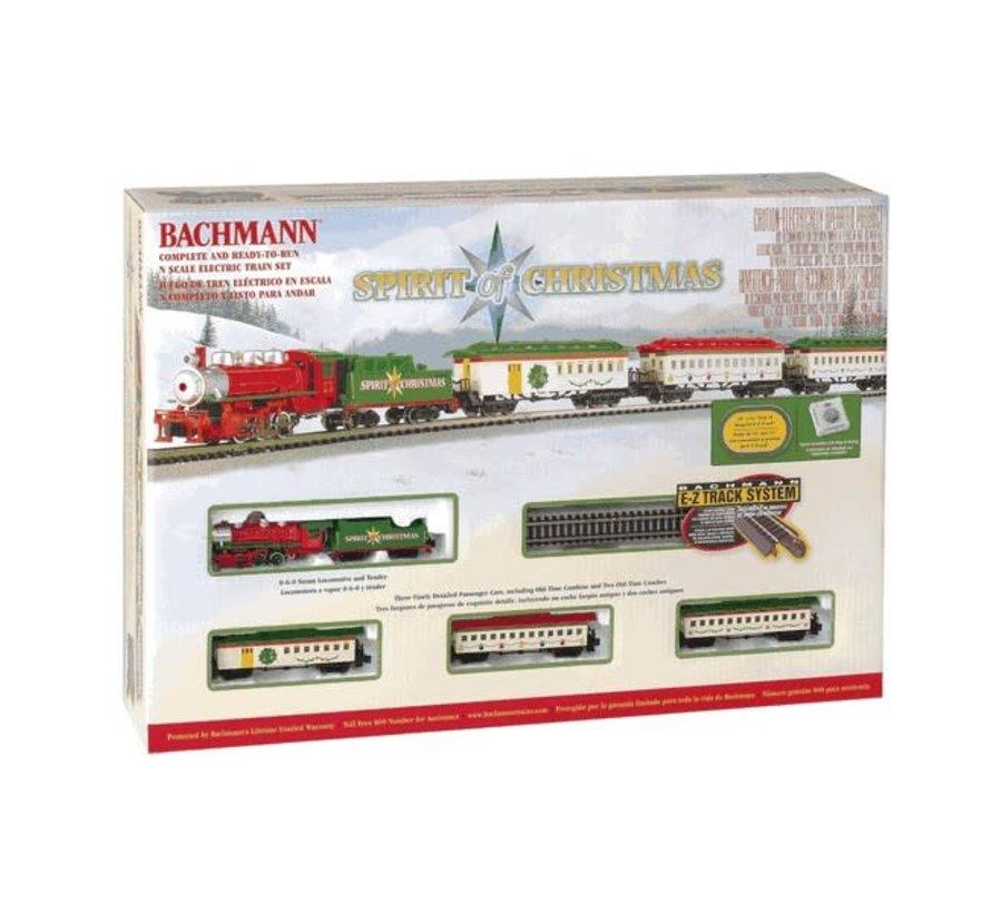 Bachmann : N Spirit of Christmas Steam Passenger Set