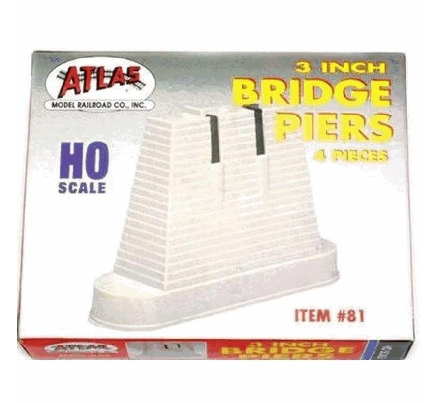 Atlas : HO Bridge Piers Set