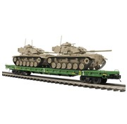 MTH MTH : O 60' Flat Car w/(2) M60 Tanks