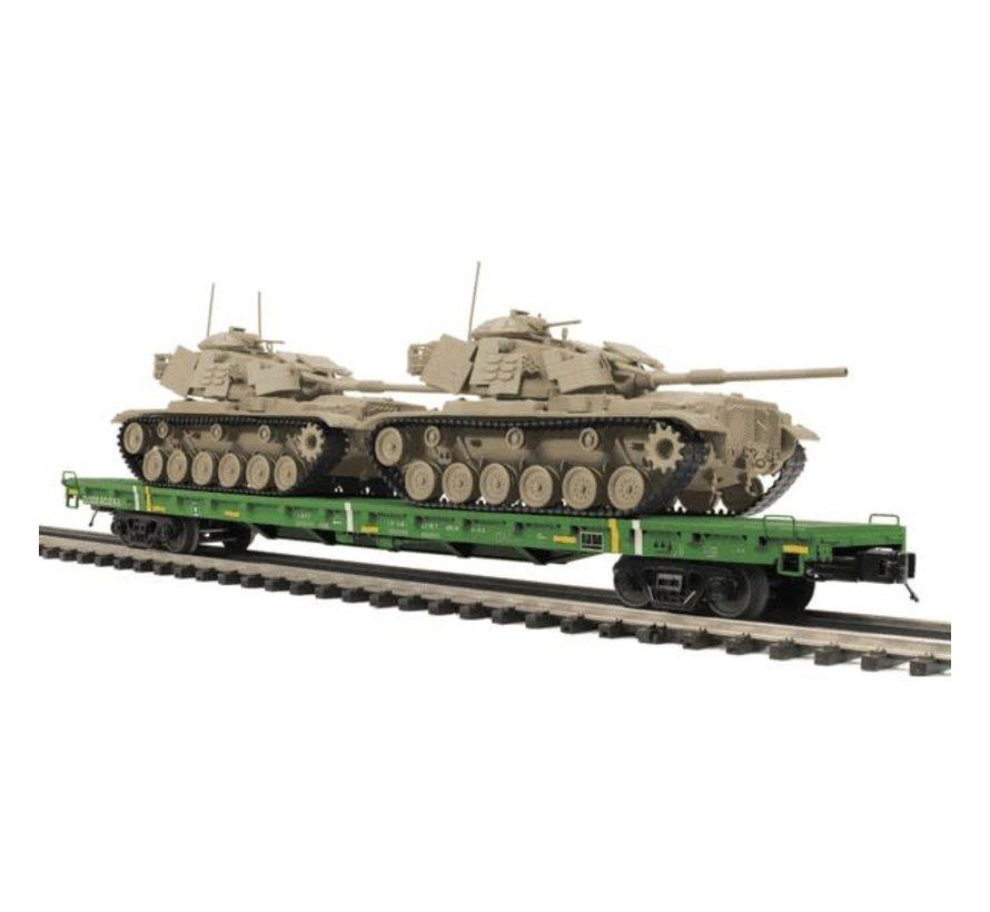 MTH : O 60' Flat Car w/(2) M60 Tanks