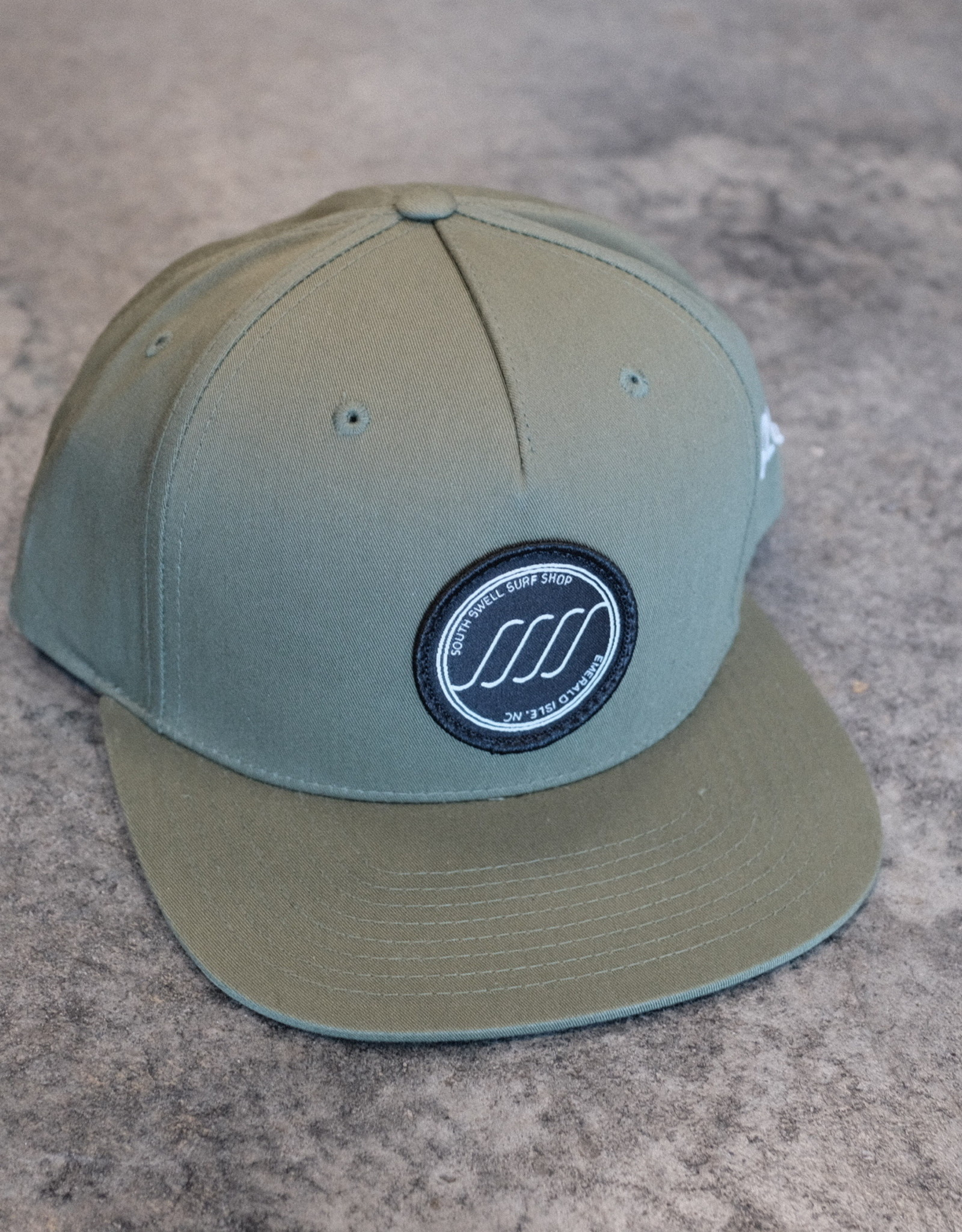 South Swell Surf Shop SSSS Circle Patch Flat Bill Hat