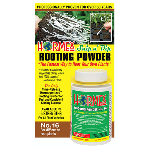 Hormex Snip n' Dip Rooting Powder #16 - 3/4 oz (12/Cs)