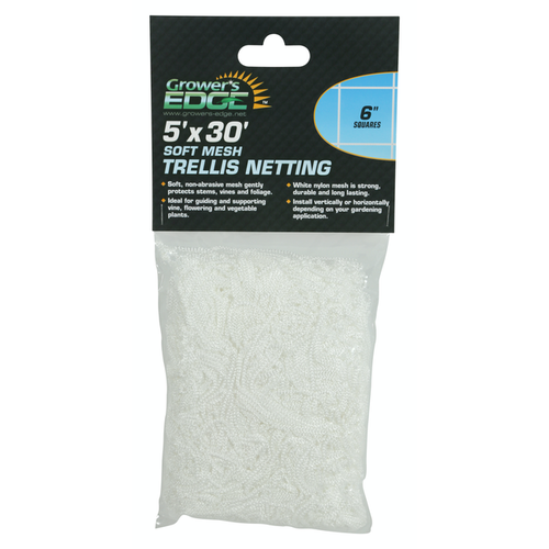 Growers Edge Grower's Edge Soft Mesh Trellis Netting 5 ft x 30 ft w/ 6 in Squares (12/Cs)