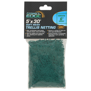 Growers Edge Grower's Edge Soft Mesh Trellis Netting 5 ft x 30 ft w/ 6 in Squares - Green (12/Cs)