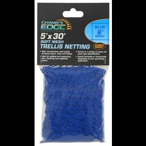 Growers Edge Grower's Edge Soft Mesh Trellis Netting 5 ft x 30 ft w/ 6 in Squares - Blue (12/Cs)