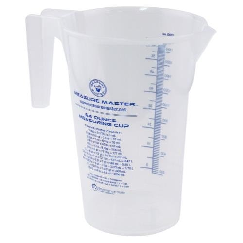 Measure Master Graduated Round Container 64 oz / 2000 ml (20/Cs)