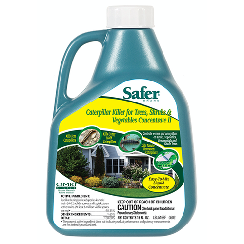 Safer Safer Caterpillar Killer Conc. for Tree, Shrub and Veg 16 oz (6/Cs)
