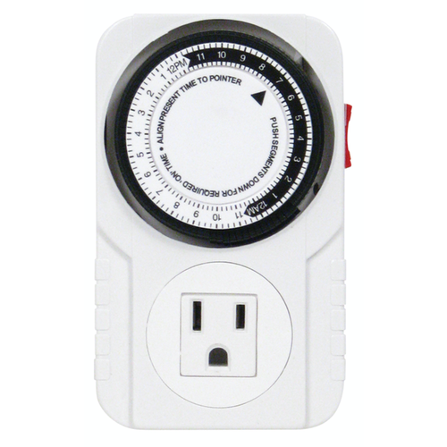 Titan Controls Apollo 6 - One Outlet Mechanical Timer (10/Cs)
