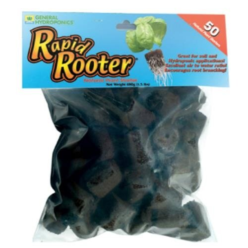 General Hydroponics GH Rapid Rooter 50/Pack Replacement Plugs (12/Cs)