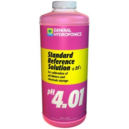 General Hydroponics GH pH 4.01 Calibration Solution Quart (12/Cs)