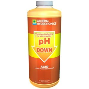 General Hydroponics GH pH Down Liquid Quart (12/Cs)