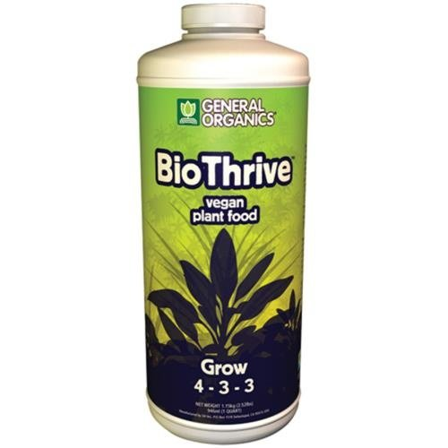 General Hydroponics GH General Organics BioThrive Grow Quart (12/Cs)
