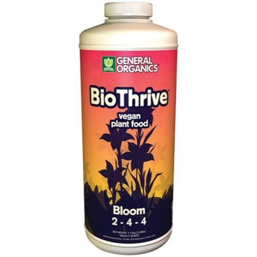 General Hydroponics GH General Organics BioThrive Bloom Quart (12/Cs)