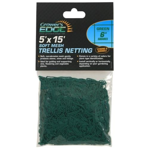 Growers Edge Grower's Edge Soft Mesh Trellis Netting 5 ft x 15 ft w/ 6 in Squares - Green (12/Cs)