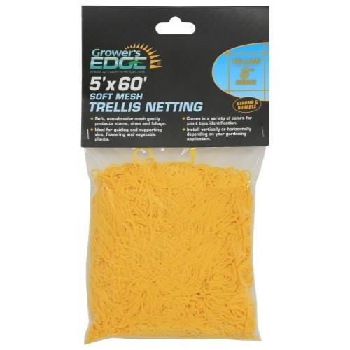 Growers Edge Grower's Edge Soft Mesh Trellis Netting 5 ft x 60 ft w/ 6 in Squares - Yellow (9/Cs)