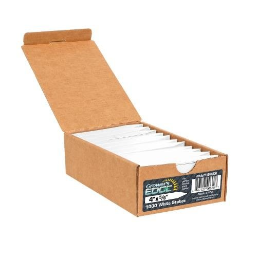 Growers Edge Grower's Edge Plant Stake Labels White - 1000/Box