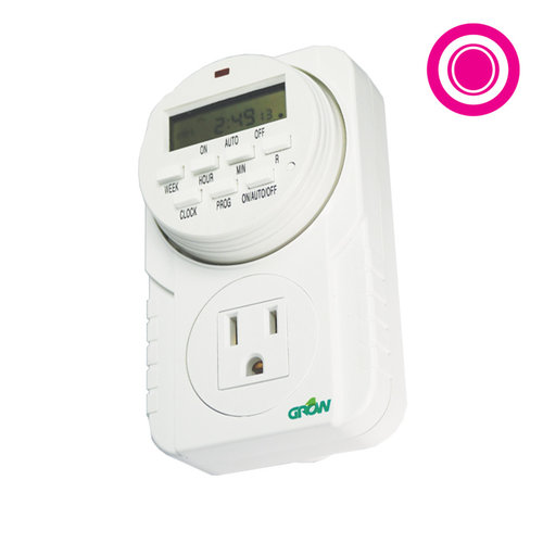 Grow1 120V Single Outlet Digital Timer