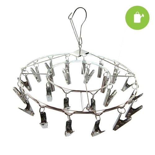 Grow1 24 Clip Hanging Metal Drying Rack