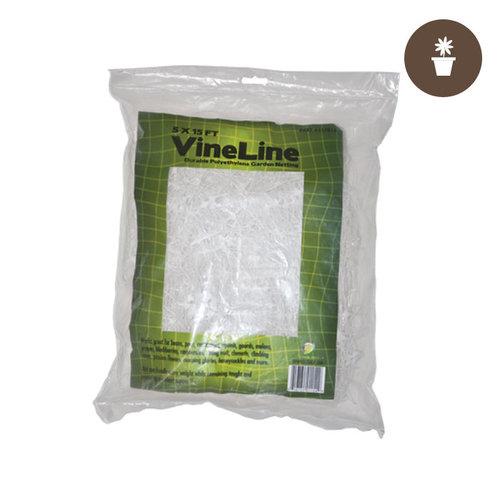 Grow1 5' x 15' (WHITE) VineLine Plastic Garden Netting