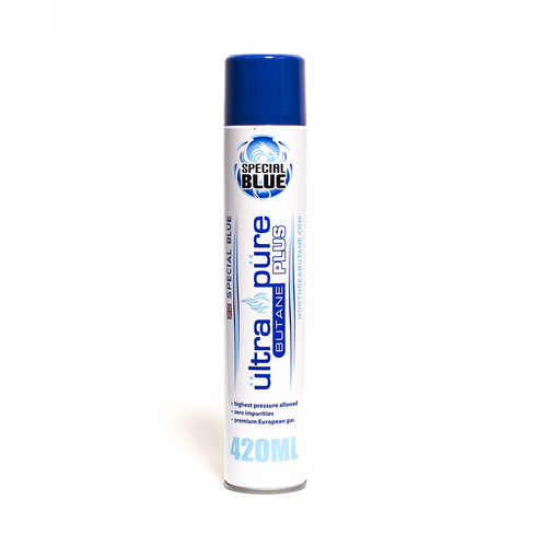 GOURMET INNOVATIONS Special Blue Butane - Ultra Pure Plus 420ml Black Cans w/metal tips (Single/Individual)
