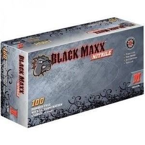 DASH MEDICAL Black Maxx Nitrile Pwdr Free Gloves Medium
