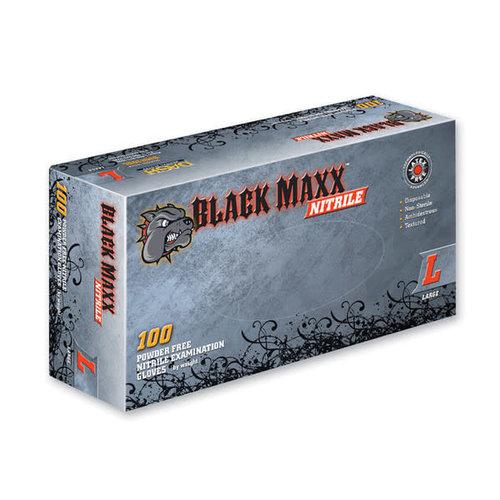 DASH MEDICAL Black Maxx Nitrile Pwdr Free Gloves Large