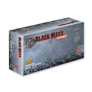DASH MEDICAL Black Maxx Nitrile Pwdr Free Gloves X-Large