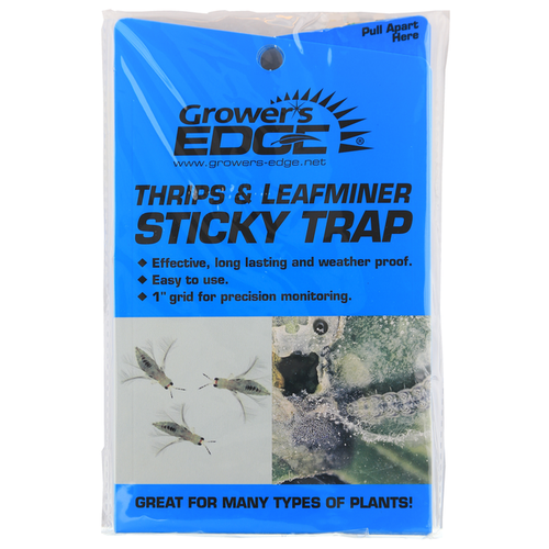 Growers Edge Grower's Edge Thrips & Leafminer Sticky Trap 5/Pack (80/Cs)